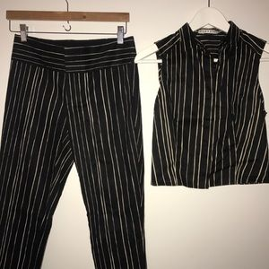 Alice & Olivia Crop Top Pant Suit